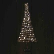 CHRISTMAS UNITED Santa´s Tree XL schwarz 50 cm 120 warmweiße LED´s