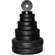 Christopeit 38,5 kg Hantelscheiben-Set Zement mit Langhantelstange mit Hohlkern