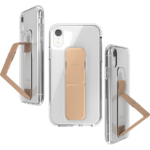 CLCKR Gripcase FOUNDATION for iPhone XR clear/rose gold colored