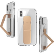 CLCKR Gripcase FOUNDATION for iPhone X/Xs clear/rose gold colored