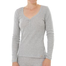 comazo Fairtrade Damen Shirt 1/1 Arm grau-melange 40