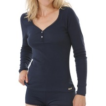 comazo Fairtrade Damen Shirt 1/1 Arm marine 40