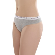 comazo Fairtrade Damen String low cut grau-melange 36