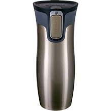 contigo Isolierbecher WEST LOOP Latte Edelstahl Thermobecher 470ml