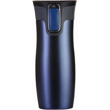 contigo Isolierbecher WEST LOOP Matt Monaco Blue blau  Edelstahl Thermobecher 470ml