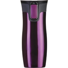 contigo Isolierbecher WEST LOOP Raspberry Edelstahl Thermobecher 470ml
