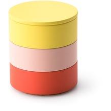 Continenta Aufbewahrungs-Set, 3 Dosen in rosé, koralle, zitrone Ø 9 x 9,5 cm