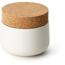 Continenta Keramikdose mit Korkdeckel 10,5x10cm, matt weiß