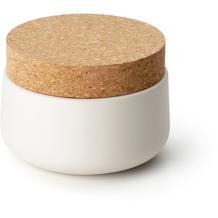 Continenta Keramikdose mit Korkdeckel 13x10cm, matt weiß