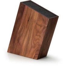 Continenta Messerblock m.flexiblem Einsatz schräg,Walnuss 28,5 x 8 cm