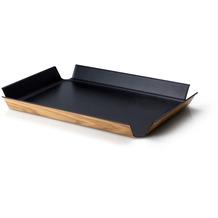Continenta Rutschfestes Tablett, schwarz metallic 54,5 x 40 cm