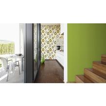 Lars Contzen Unitapete, Designertapete, Vliestapete, grün 10,05 m x 0,53 m