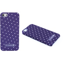 Cool Bananas CoverLia Backcover Hülle für iPhone 5/5S/SE, Purple Dots