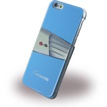 Corvette C1 Classic - Leder Hard Cover für Apple iPhone 6 Plus/6S Plus, hellblau