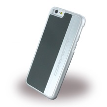 Corvette Silver Brushed Aluminium - Hard Cover für Apple iPhone 6/6S, grau