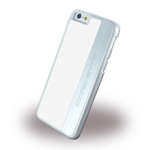 Corvette Silver Brushed Aluminium - Hard Cover für Apple iPhone 6/6S, weiß