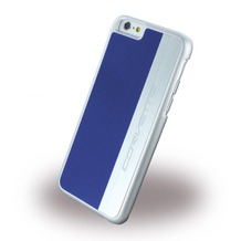 Corvette Silver Brushed Aluminium - Hard Cover für Apple iPhone 6 Plus/6S Plus, blau
