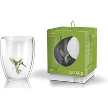 """Creano ThermoGlas """"hummi""""- grün, doppelwandig, 250ml, in exklusiver Geschenkbox"""