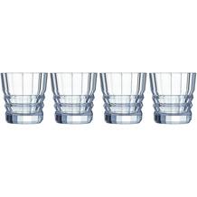 Cristal d'Arques Architecte, Whisky-Gläser 4er Set aus hochwertigem Kristallglas, 4 Tumbler à 32 cl, Kwarxglas