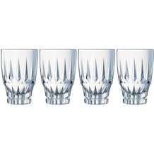 Cristal d'Arques Ornements, Longdrink-Gläser 4er Set aus hochwertigem Kristallglas, 4 Trinkgläser à 36 cl, Kwarxglas