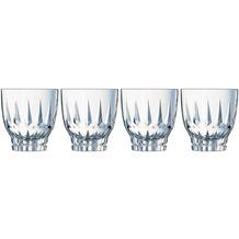 Cristal d'Arques Ornements, Whisky-Gläser 4er Set aus hochwertigem Kristallglas, 4 Tumbler à 32 cl, Kwarxglas
