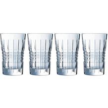 Cristal d'Arques Rendez-Vous, Longdrink-Gläser 4er Set aus hochwertigem Kristallglas, 4 Trinkgläser à 36 cl Kwarxglas