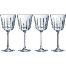 Cristal d'Arques Rendez-Vous, Rotweingläser 4er Set aus hochwertigem Kristallglas, 4 Weingläser à 35 cl, Kwarx-Glas