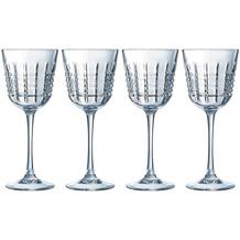 Cristal d'Arques Rendez-Vous, Weißweingläser 4er Set aus hochwertigem Kristallglas, 4 Weingläser à 25 cl, Kwarx-Glas