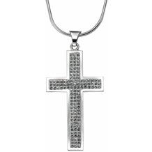 Crystelle Silber Anhänger mit Kette Swarovski Kristalle weiß 86