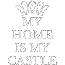 cuadros Wallslogan MY HOME IS MY CASTLE, white, 45x60 cm