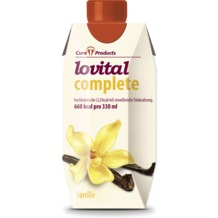 Cura Products Lovital complete Vanille, 12 x 330 ml, hochkalorische eiweißreiche Trinknahrung