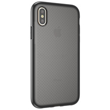 Cyoo Dot Back Silikon Cover / Handyhülle für Apple iPhone XR, Transparent / Schwarz