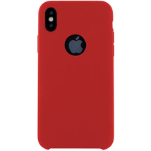 Cyoo Premium Liquid Silicon Hard Cover für iPhone X, Rot