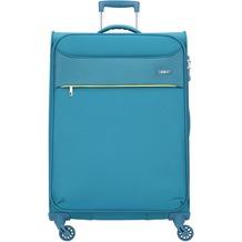 d & n Travel Line 6304 4-Rollen Trolley 79 cm tuerkis
