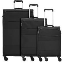 d & n Travel Line 9004 4-Rollen Kofferset 3tlg. schwarz