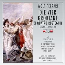 da music Die Vier Grobiane (I Quatro Rusteghi), CD