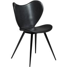 DAN-FORM Dreamer Stuhl Vintage Schwarz Kunstleder, Schwarze Beine
