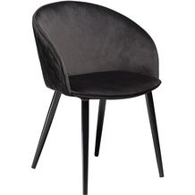 DAN-FORM Dual Stuhl Meteorite Schwarz Velour, Schwarze Beine