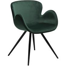 DAN-FORM Gaia Stuhl Emerald Grün Velour, Schwarze Beine