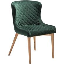 DAN-FORM Vetro Stuhl Emerald Grün Velour, Eiche Beine