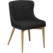 DAN-FORM Vetro Stuhl Schwarz Stoff, Eiche Beine