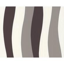 Daniel Hechter Streifentapete, Tapete, braun, creme, metallic 10,05 m x 0,53 m
