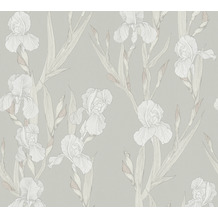 Daniel Hechter Vliestapete Blumentapete grau weiß 375264 10,05 m x 0,53 m