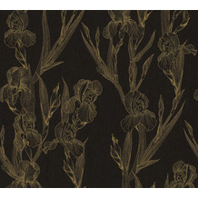 Daniel Hechter Vliestapete Blumentapete schwarz gelb 375263 10,05 m x 0,53 m