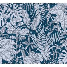 Daniel Hechter Vliestapete Dschungeltapete blau grau weiß 375206 10,05 m x 0,53 m