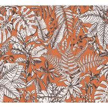 Daniel Hechter Vliestapete Dschungeltapete orange weiß braun 375204 10,05 m x 0,53 m