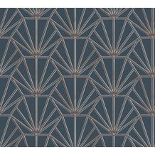 Daniel Hechter Vliestapete geometrische Tapete blau gold schwarz 375283 10,05 m x 0,53 m