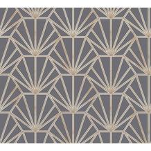 Daniel Hechter Vliestapete geometrische Tapete blau gold weiß 375284 10,05 m x 0,53 m