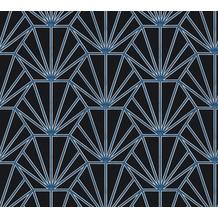 Daniel Hechter Vliestapete geometrische Tapete schwarz blau weiß 375282 10,05 m x 0,53 m