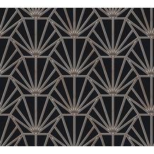 Daniel Hechter Vliestapete geometrische Tapete schwarz bronze weiß 375281 10,05 m x 0,53 m